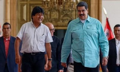 Evo y Maduro posesión presidencial