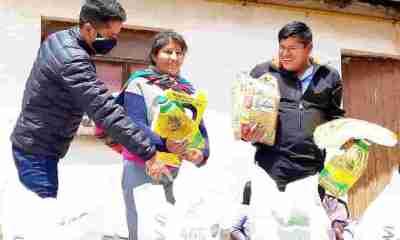 Andrónico Rodríguez entrega ayuda a víctimas de Senkata