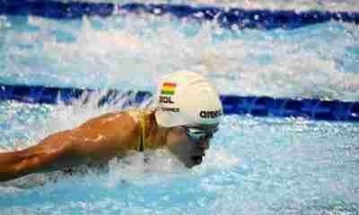 Nadadora boliviana Karen Torrez en EEUU
