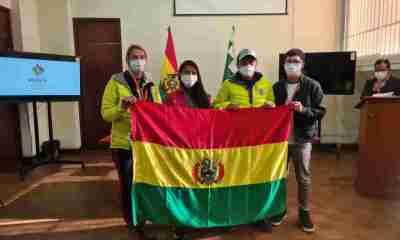Alpinistas bolivianos Hugo Ayaviri y Anne Bialek