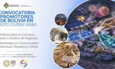 Promotores bolivianos en la ExpoDubai