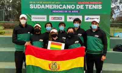 Tenistas bolivianas en Paraguay