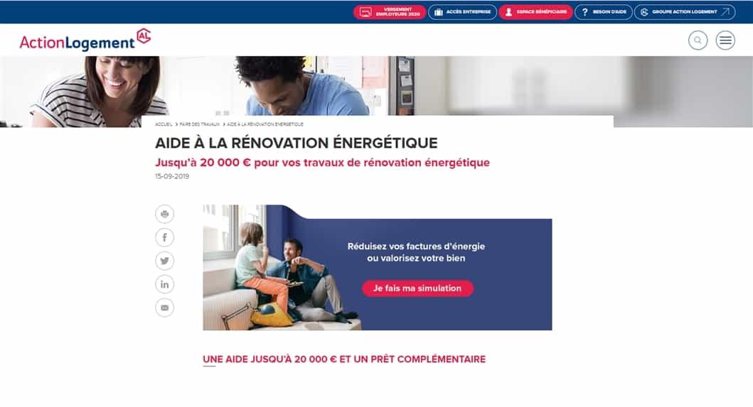 renovation energetique action logement
