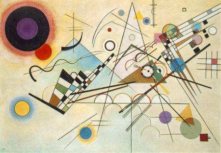 Composição 8, uma das obras de Kandinsky (1923).