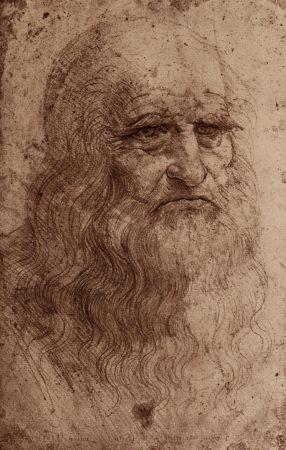 Autorretrato de Leonardo Da Vinci (aproximadamente em 1512).