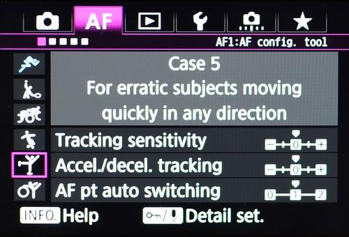 Setiap skenario punya karakteristik berbeda, misalnya Case 5 untuk fokus ke benda bergerak cepat ke segala arah