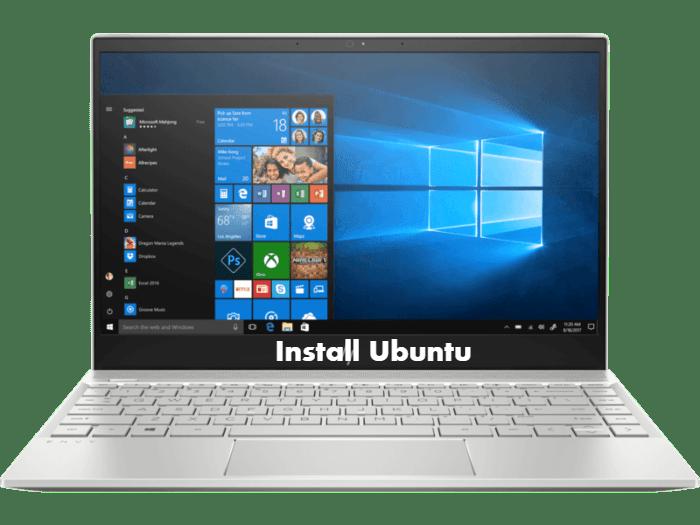 How to install Ubuntu on HP Envy 13-ah0044TX + Dual Boot Windows