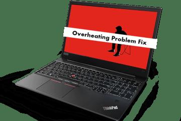 Lenovo ThinkPad E480 overheating