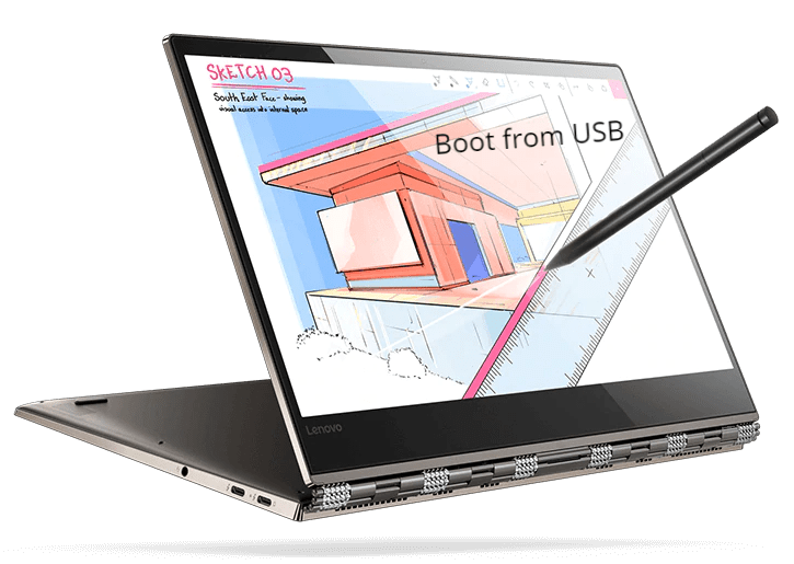 Lenovo Yoga 920 Boot from USB for Windows and Linux OS