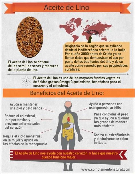 beneficios del aceite de lino