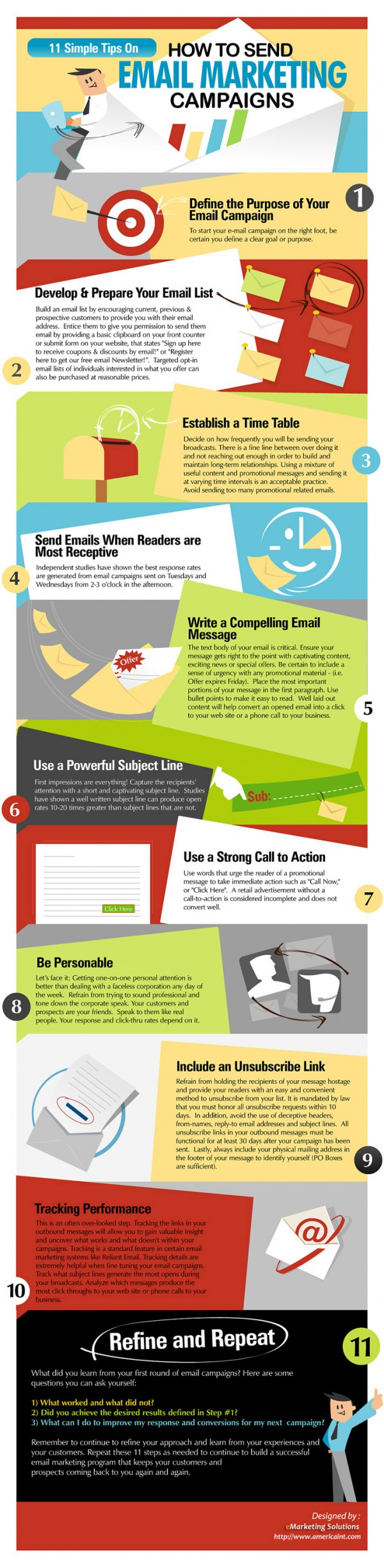 Infografía con trucos para email marketing