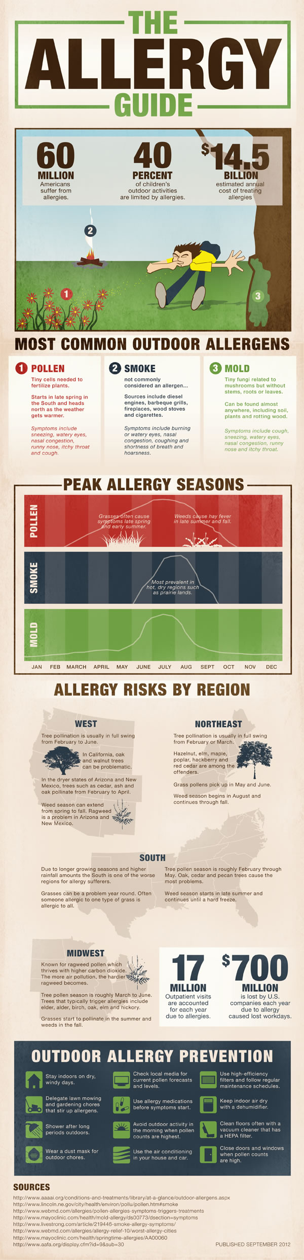 Air Pollution and Allergies in the USA [Infographic] | ecogreenlove