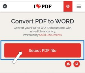 how to convert PDF to word in mobile