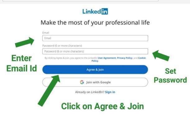 how to create account in LinkedIn