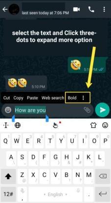 Change WhatsApp font style