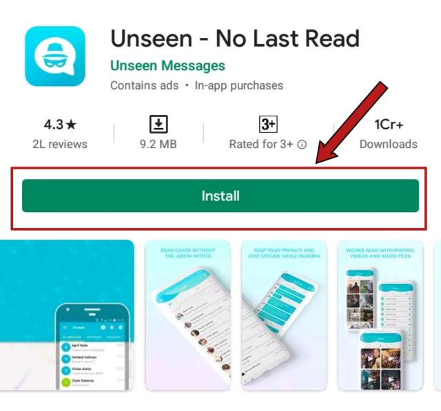 Unseen app read WhatsApp messages without double blue tick marks