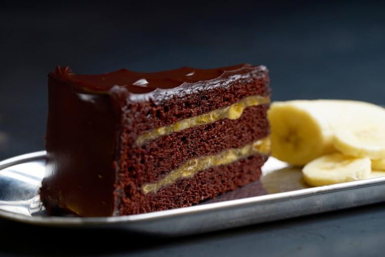 Αποτέλεσμα εικόνας για Κέικ σοκολάτας με μπανάνα