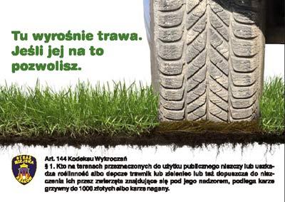 Kierowco Szanuj Zieleń ! - interwencje strażników miejskich