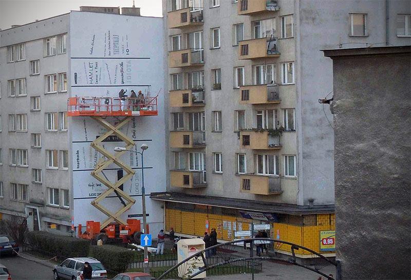 Literacki mural w Krakowie