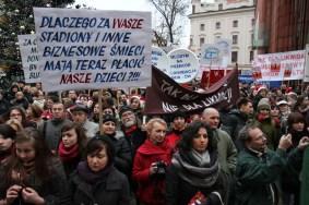 Protest w obronie MDK-ów /fot.Jan Graczyński