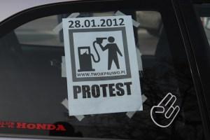 Protest przeciw wysokim cenom paliw / fot. Jan Graczyński - InfoKraków24