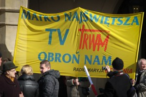 Protesty o TV Trwam/fot. Jan Graczyński Info Kraków24