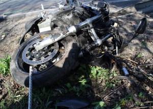 Wypadek motocyklisty ( fot. archiwum  ilustracja ) Fot. Małopolska Policja