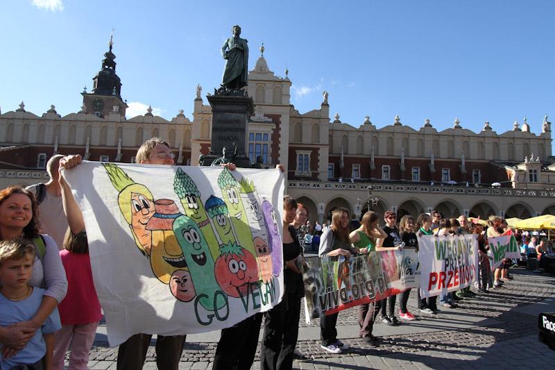 Jedz brukselki, będziesz wielki  Veggie Parade w Krakowie [ zdjęcia ]