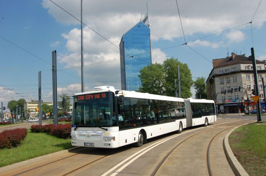 Czeski autobus na testach w Krakowie