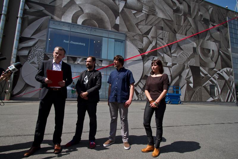 Nowe oblicze Galerii Krakowskiej- Mural odsłonięty [ zdjęcia ]