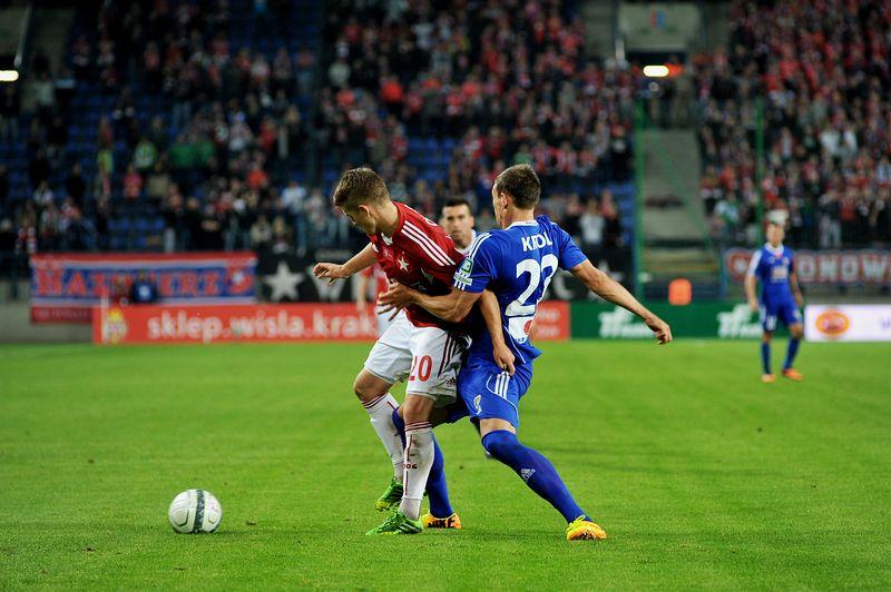 Ważna wygrana Białej Gwiazdy - Wisła Kraków 3:0 Piast Gliwice. Fot. Grzegorz Łyko / INFO Kraków24
