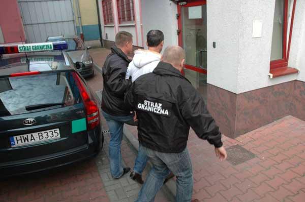 Straż Graniczna zatrzymanie, Fot. KOSG [ archiwum ilustracja ]