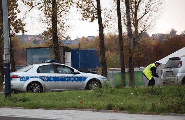 Policyjna kontrola ( ilustracja ) Fot. Bogusław Świerzowski / INFO Kraków24