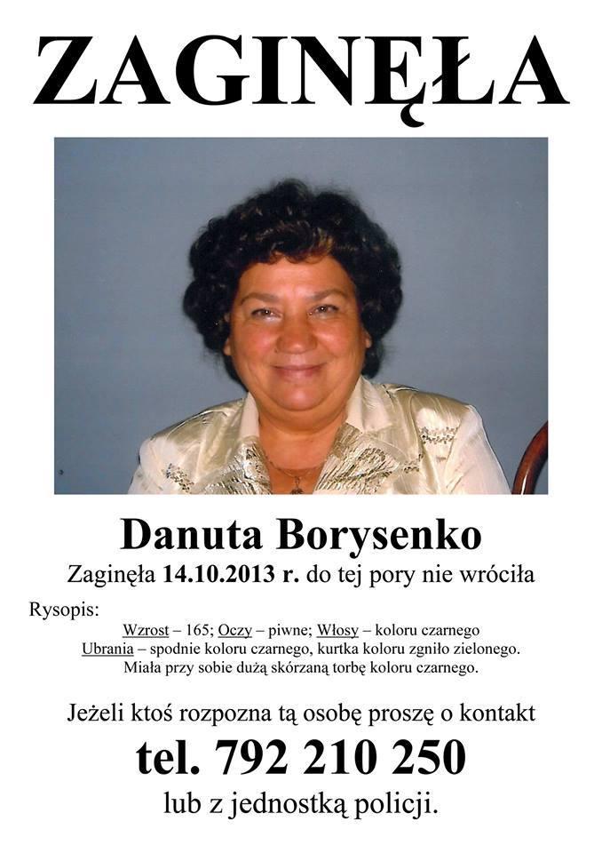 Zaginiona Danuta Borysenko