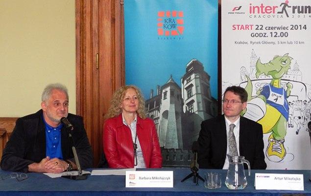 Konferencja zapowiadającaVII ProTouch Cracovia INTERRUN. Fot.  K2O Media / INTERSPORT