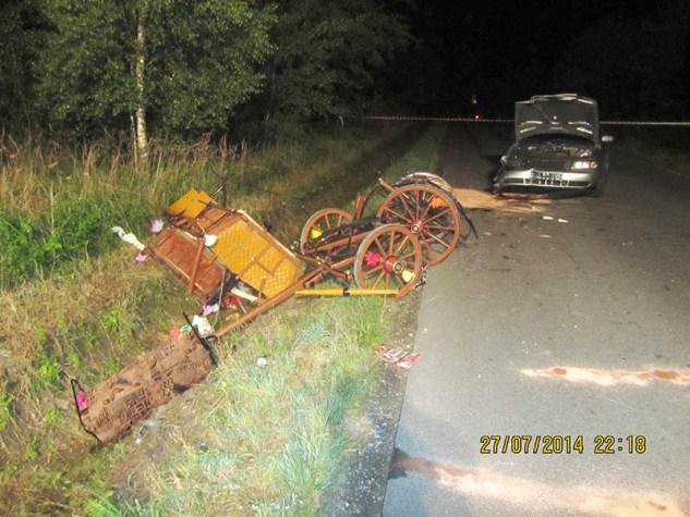 Wypadek w Lubasz.Fot. Policja Małopolska