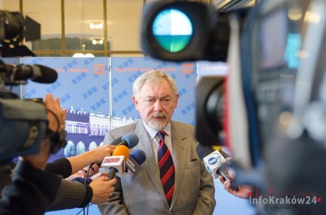 Briefing prasowy Prezydenta Krakowa Jacka Majchrowskiego. Fot.Bogusław Świerzowski/INFO Kraków24