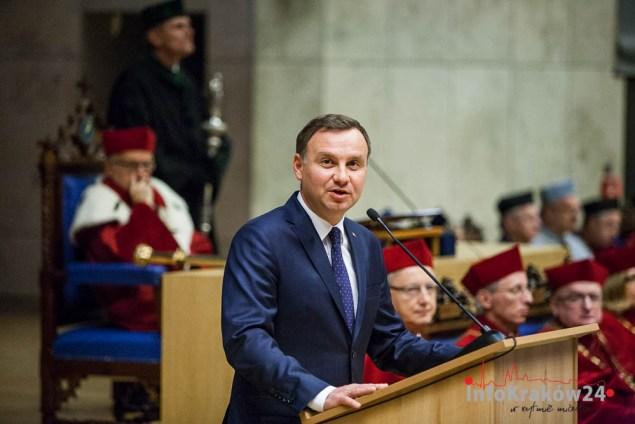 Andrzej Duda Prezydent RP na inauguracji roku akademickiego w Krakowie. Fot. Jan Graczyński / INFO Kraków24