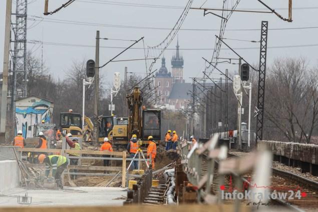 Budowa łącznicy kolejowej Zabłocie - Krzemionki Fot. Jan Graczyński / INFO Kraków24