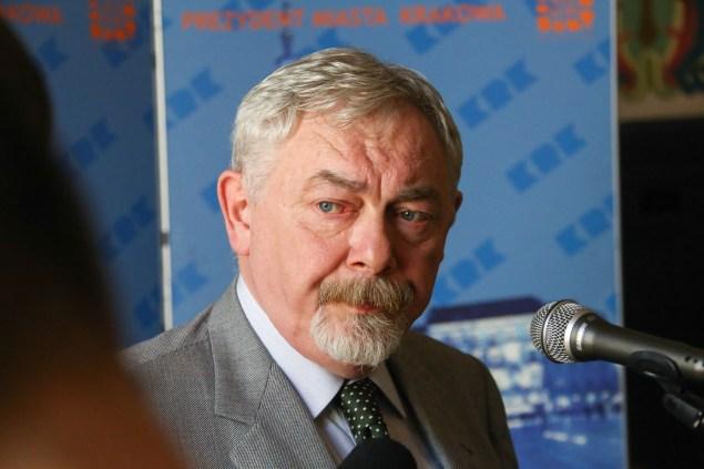 Prezydent Krakowa prof. Jacek Majchrowski Fot. Bogusław Świerzowski