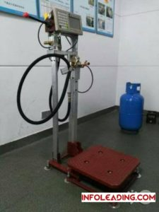 Automatic gas refilling machine