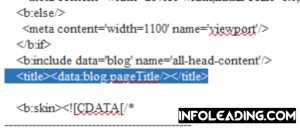 Blogger template edit html
