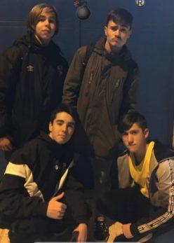 Álvaro Blázquez, Raúl Morales, Floren Valcarcel y Luis Ortega