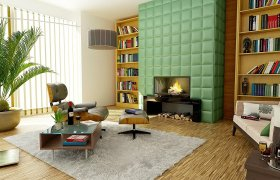 Sala de estar - chimenea