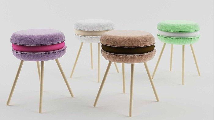 Objets design par excellence : les tabourets macaron