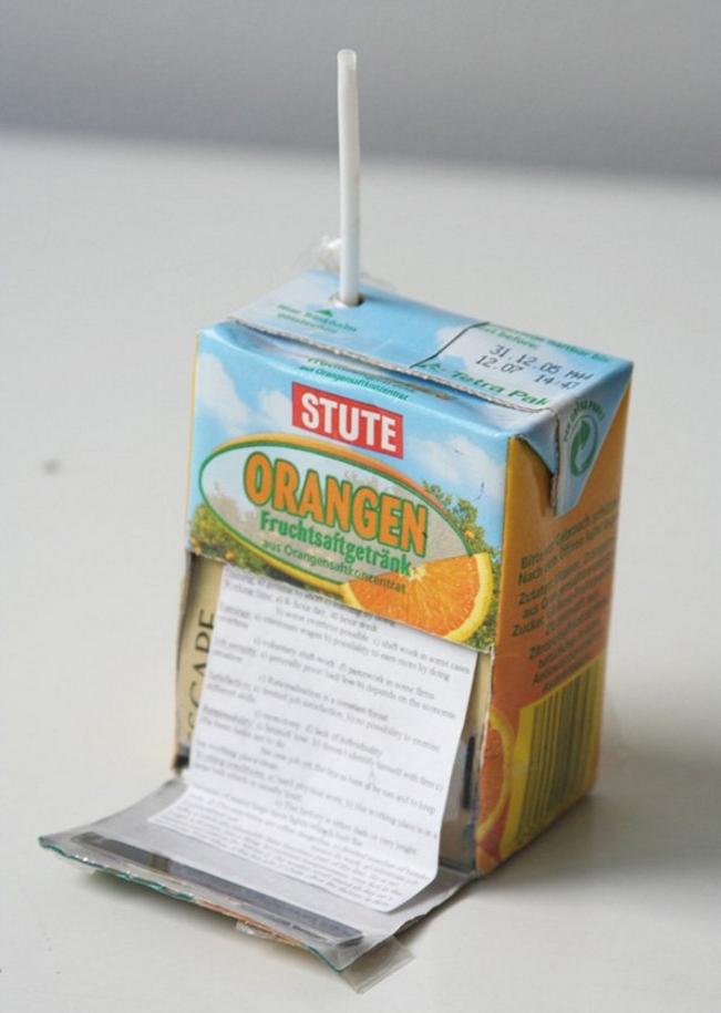antisèche colle brique-jus d'orange