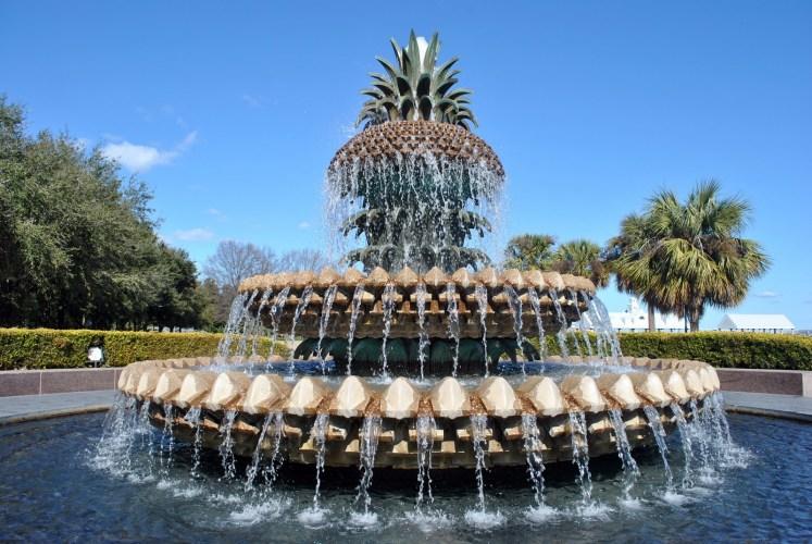 18.Pineapple Fountain, Waterfront Park, Charleston, SC, USA.