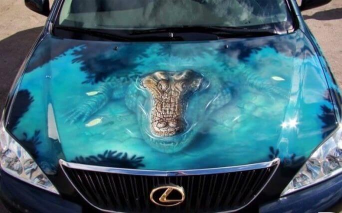 Top 10 des peintures les plus insolites jamais vues sur des voitures - page 3
