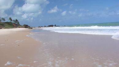 Faire du surf tout nu au Brésil.