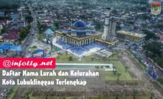 Permalink to Daftar Nama Lurah dan Kelurahan Kota Lubuklinggau Terlengkap